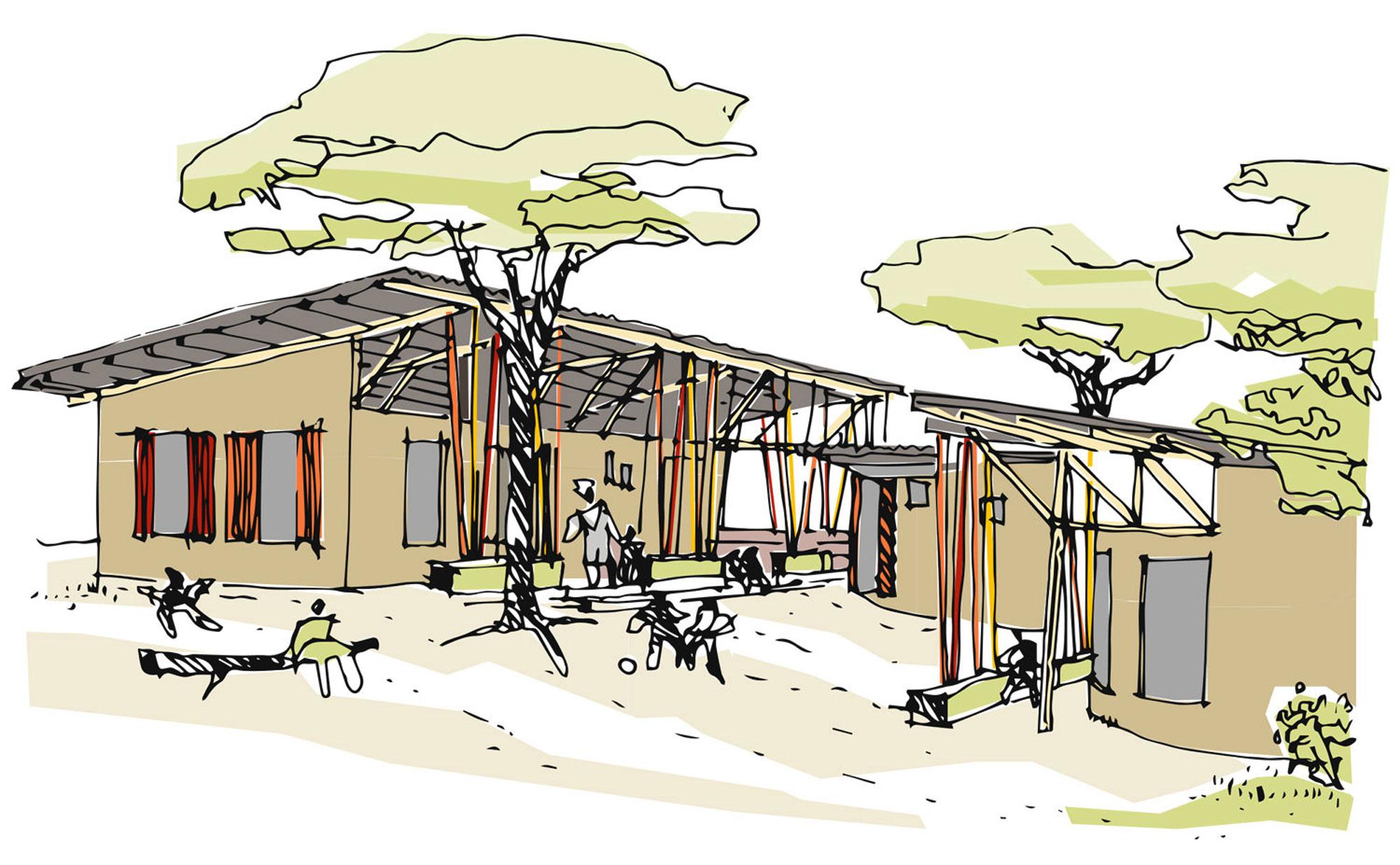 Blaesig-Architekten_Vorschule-in-Agbanto_Zeichnung